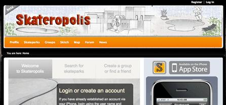 Skateropolis Social Networking App