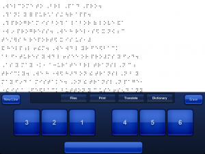 Brailler Word Processor Interface