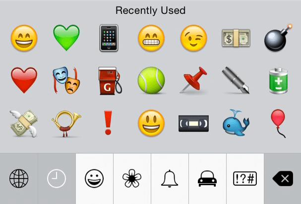 iOS 8 New Emoji