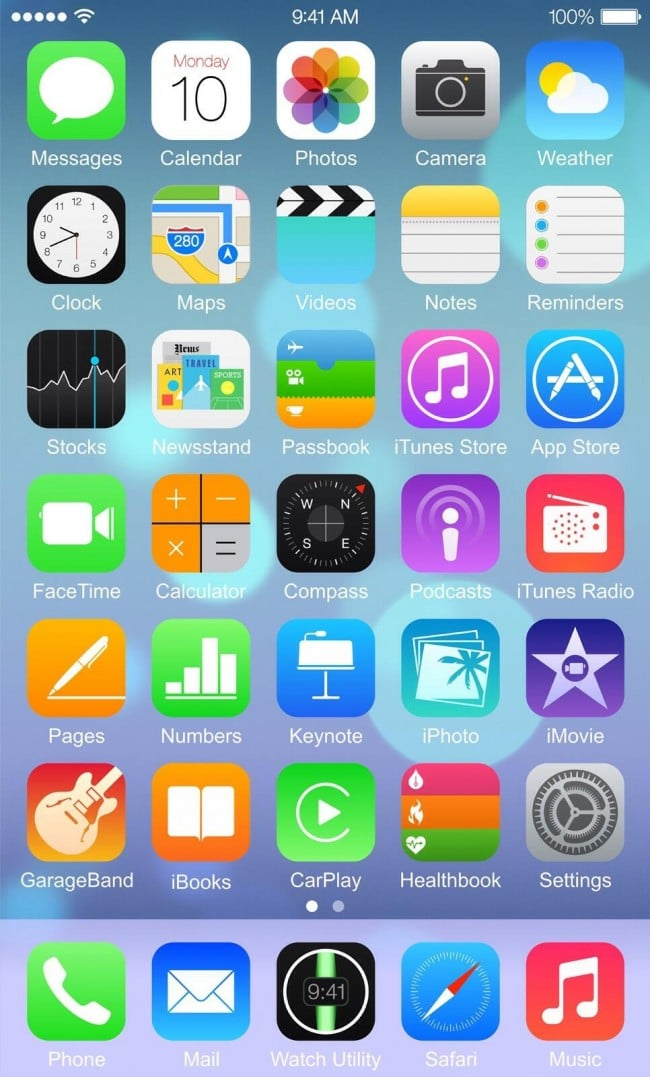Home Screen iPhone 6