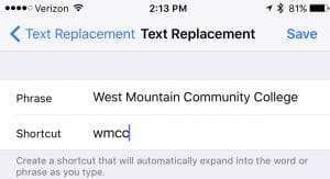Text Replacement
