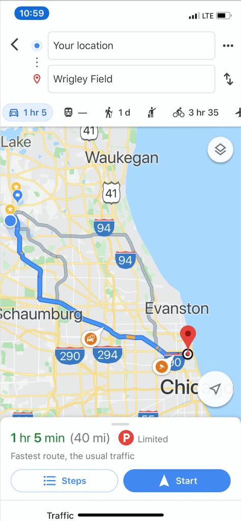 Siri Google Map Directions