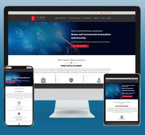 Electrical Contractor Responsive Website Designer